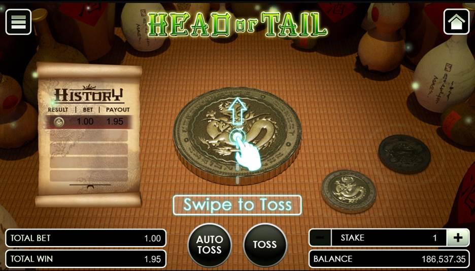 วิธีเล่น หัวก้อย HEAD OR TAIL ที่เข้าใจง่าย