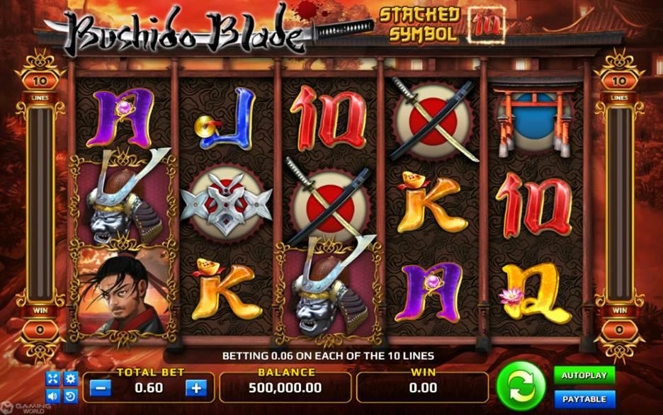 รูปแบบของการแทงพนันเกมสล็อตออนไลน์ BUSHIDO BLADE